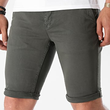 Paname Brothers - Short Chino Skinny Bary Gris Anthracite