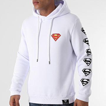 DC Comics - Sweat Capuche Chest And Sleeve Blanc