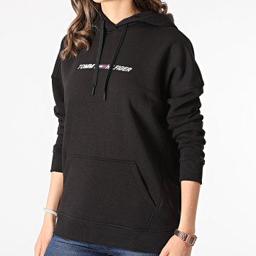 Tommy Sport - Sweat Capuche Femme Relaxed Graphic 0980 Noir