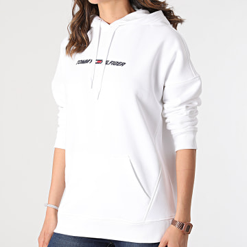 Tommy Sport - Sweat Capuche Femme Relaxed Graphic 0980 Ecru