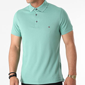 Tommy Hilfiger - Polo Manches Courtes 1985 Slim 7771 Vert