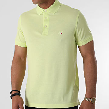 Tommy Hilfiger - Polo Manches Courtes 1985 Slim 7771 Vert Clair
