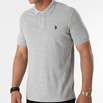 US Polo ASSN - Polo Manches Courtes Institutional Gris