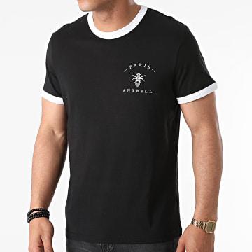 Anthill - Tee Shirt Ringer Chest Logo Noir Blanc