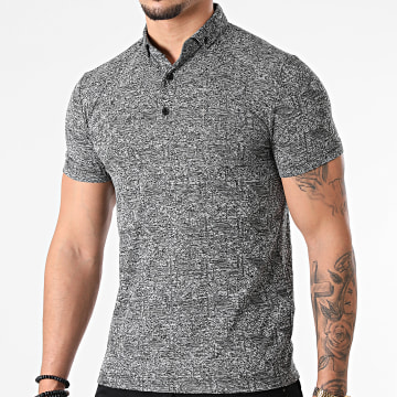 Classic Series - Polo Manches Courtes 21Y-1097 Gris Anthracite Chiné