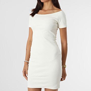 Project X Paris - Robe Tee Shirt Femme F217052 Crème