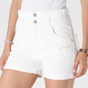 Project X Paris - Short Jean Femme F214201 Blanc