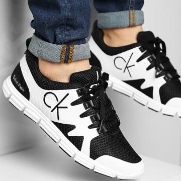 Calvin Klein - Baskets Runner Sneaker Lace Up 0086 Black Bright White