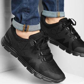 Calvin Klein - Baskets Runner Sneaker Lace Up 0086 Full Black