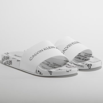 Calvin Klein - Claquettes Slide Institutional 0074 Bright White