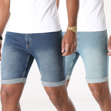 Classic Series - Lot De 2 Shorts Jean Orange DP20002P Bleu Denim
