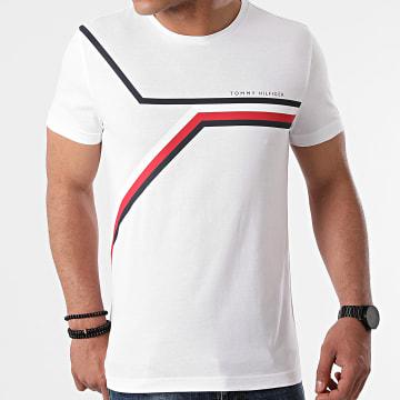 Tommy Hilfiger - Tee Shirt Split Chest Stripe 8724 Blanc