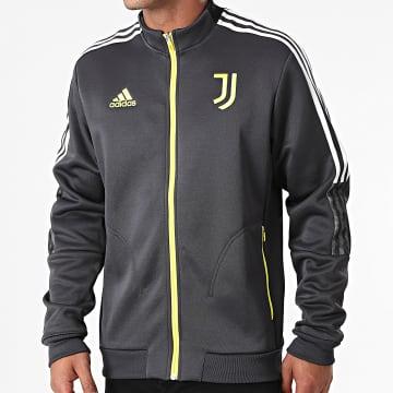 Adidas Performance - Veste Zippée A Bandes Juventus GR2916 Gris Jaune
