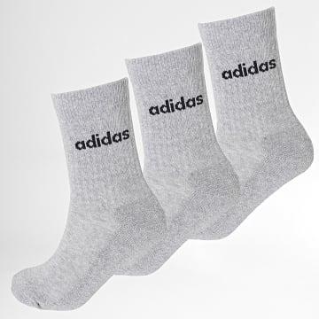 adidas - Lot De 3 Paires De Chaussettes HC Crew GE6172 Gris Chiné