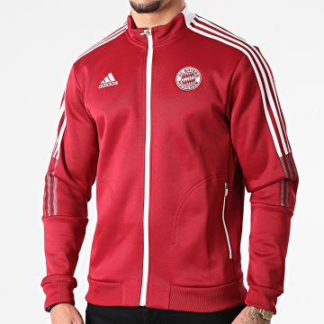 Adidas Performance - Veste Zippée A Bandes FC Bayern GR0676 Bordeaux