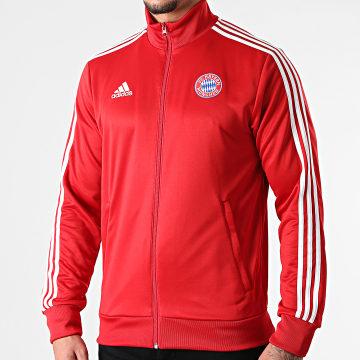 Adidas Performance - Veste Zippée A Bandes FC Bayern GR0684 Rouge