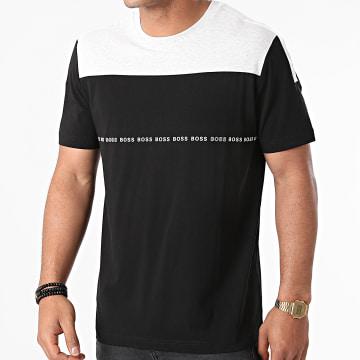 BOSS - Tee Shirt A Bandes Tee 5 50452867 Noir Beige Chiné