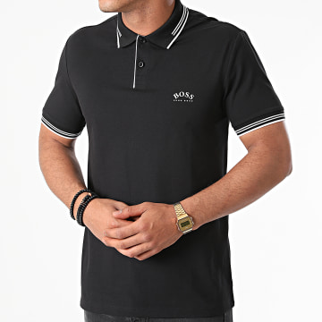 BOSS - Polo Manches Courtes Paul Curved 50412375 Noir
