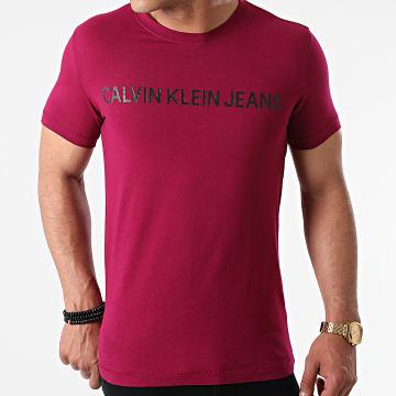 Calvin Klein - Tee Shirt Institutional Logo 7856 Bordeaux