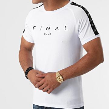 Final Club - Tee Shirt A Bandes Logo Premium Fit 532 Blanc