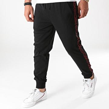 HUGO - Pantalon Jogging A Bandes Daky 213 50456884 Noir Rouge