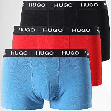 HUGO - Lot De 3 Boxers 50449351 Noir Rouge Bleu