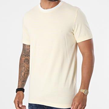 Selected - Tee Shirt A Rayures Colton Ecru Jaune