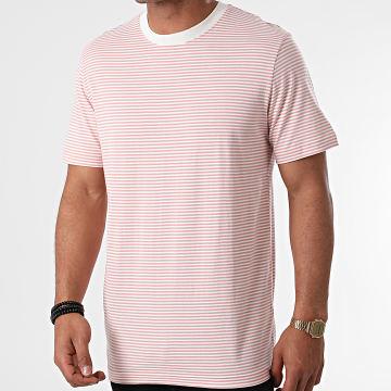 Selected - Tee Shirt A Rayures Colton Ecru Rose