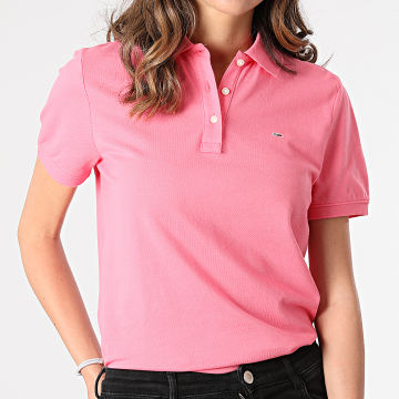 Tommy Jeans - Polo Manches Courtes Femme Slim 9199 Rose