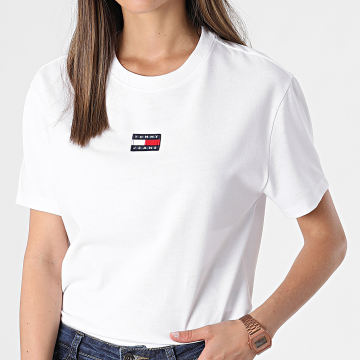 Tommy Jeans - Tee Shirt Femme Center Badge 0404 Blanc