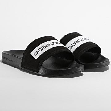 Calvin Klein - Claquettes Slide Tape Institutional 0257 Black