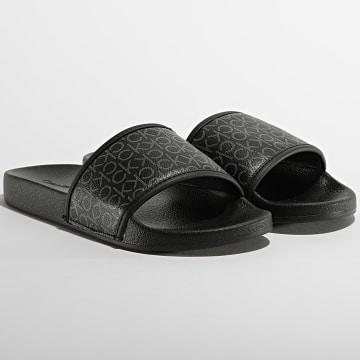 Calvin Klein - Claquettes Femme Pool Slide 0557 Black Mono