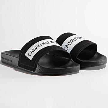 Calvin Klein - Claquettes Femme Slide Tape Institutional 0409 Black