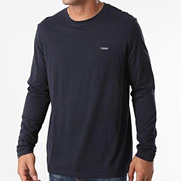 HUGO - Tee Shirt Manches Longues Derol 212 50447977 Bleu Marine