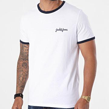 Jack And Jones - Tee Shirt Ringers Blanc