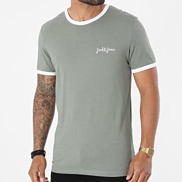 Jack And Jones - Tee Shirt Ringers Vert Kaki