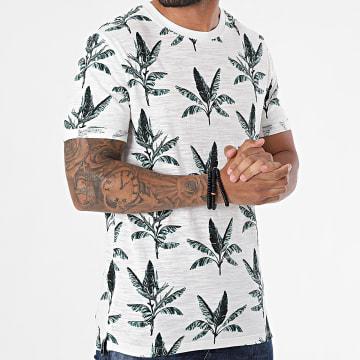 Jack And Jones - Tee Shirt Blabeach Ecru Floral