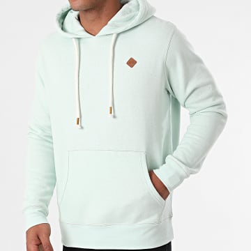 Jack And Jones - Sweat Capuche Tons Turquoise Clair Chiné