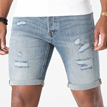 Jack And Jones - Short Jean Slim Rick Original Bleu Denim