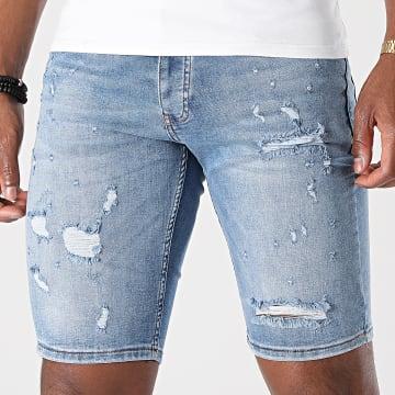KZR - Short Jean Skinny 8016 Bleu Denim