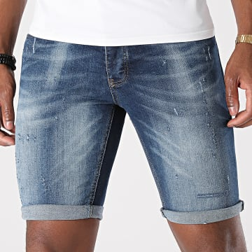 KZR - Short Jean Skinny 8017 Bleu Denim