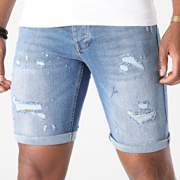 KZR - Short Jean Skinny 8011 Bleu Denim