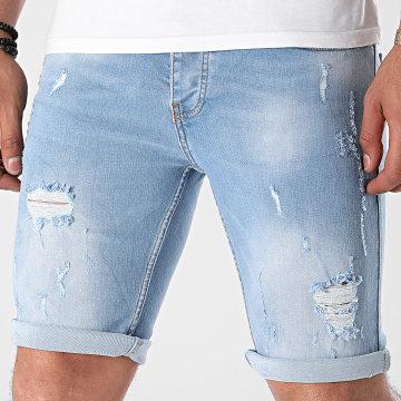 KZR - Short Jean Skinny 8018 Bleu Denim