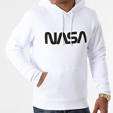 NASA - Sweat Capuche Worm Series Logo Blanc Noir