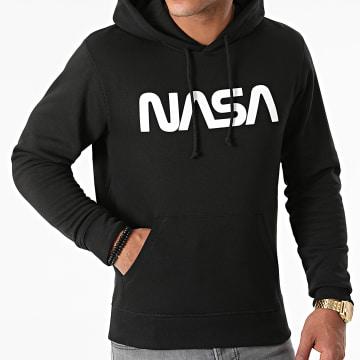NASA - Sweat Capuche Worm Series Logo Noir Blanc
