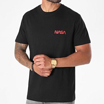 NASA - Tee Shirt Simple Chest Logo Noir Rouge