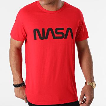 NASA - Tee Shirt Worm Series Logo Rouge Noir