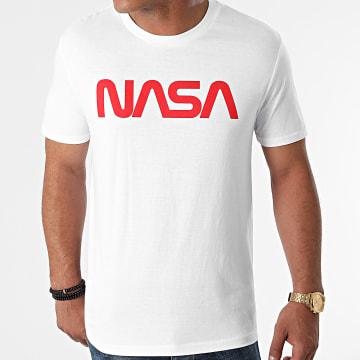 NASA - Tee Shirt Worm Series Logo Blanc Rouge