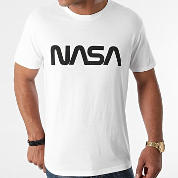 NASA - Tee Shirt Worm Series Logo Blanc Noir