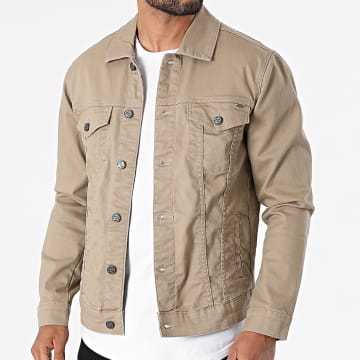 Only And Sons - Veste Jean Coin Life Beige